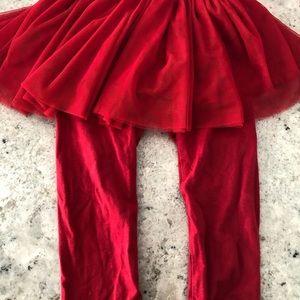 Gap tulle skirt leggings 18-24 mo euc